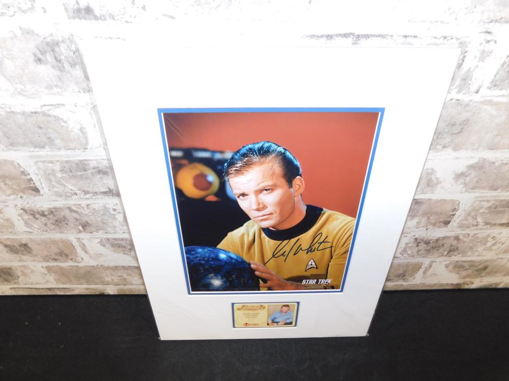 William Shatner Autographed Captain Kirk Photo