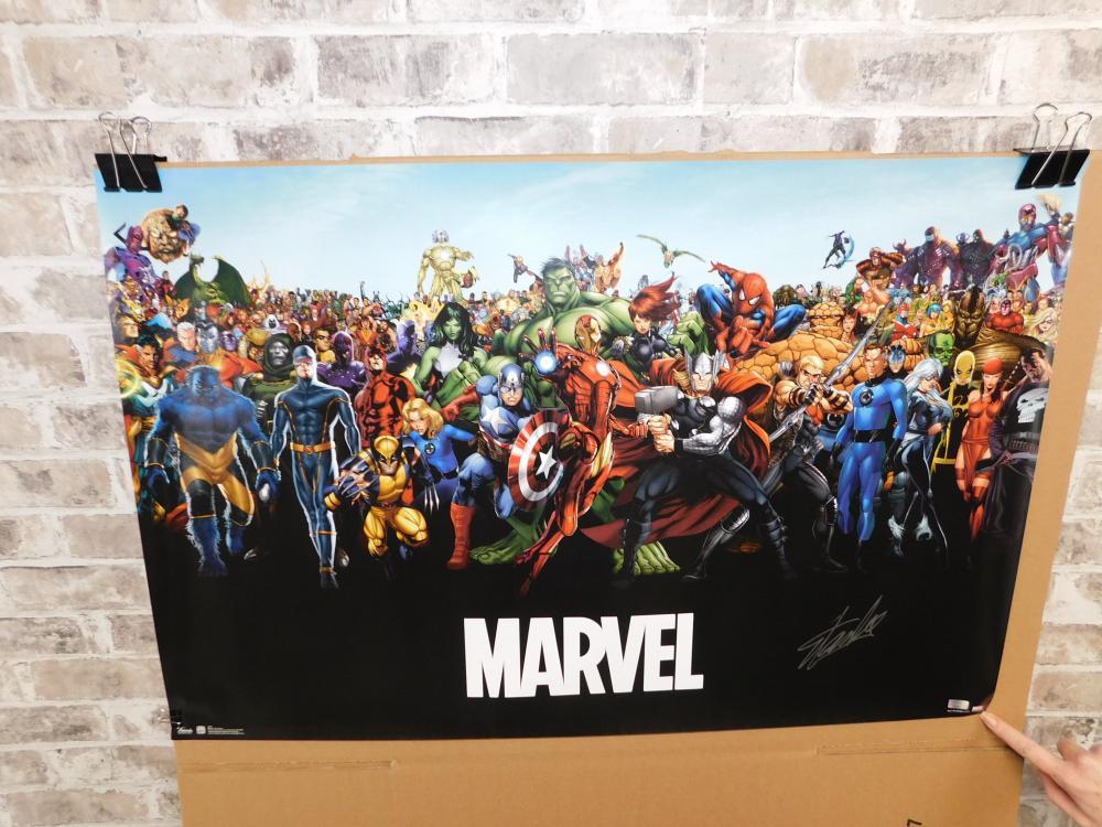 Stan Lee Autographed Marvel Poster