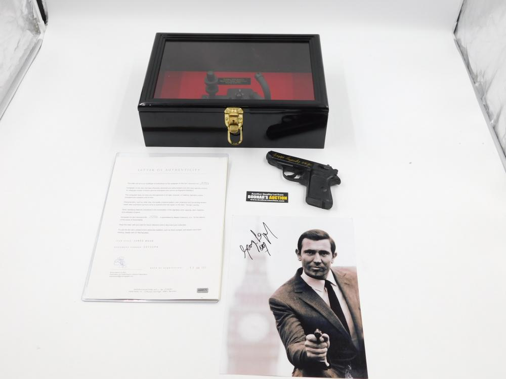 George Lazenby Autographed PPK and Photo