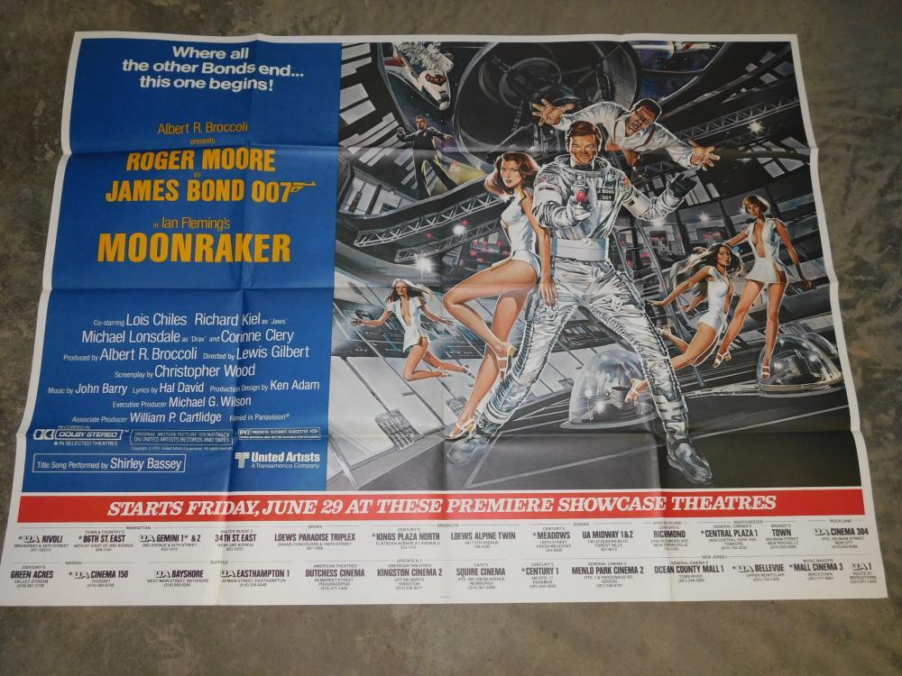 Original Movie Poster - James Bond Moonraker