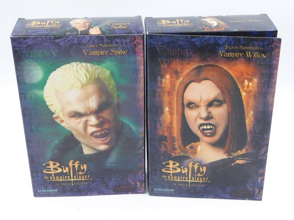 """2 Buffy the Vampire Slayer Sideshow Collectibles 12"""" Figures"""
