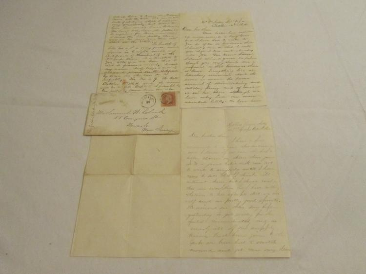 Group of 2 letters from A Judson Clark, Battery B, 1st NJ Light Artillery