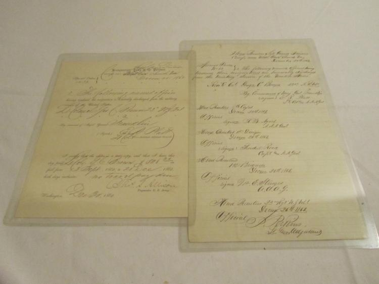 Group of 2 Resignation Papers for Lt Colonel George Brown