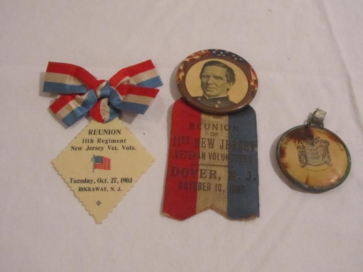 Group of 3 11th NJ Reunion medals