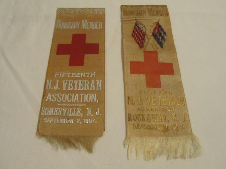 Group of 2 15th NJ Volunteers Reunion Ribbons.