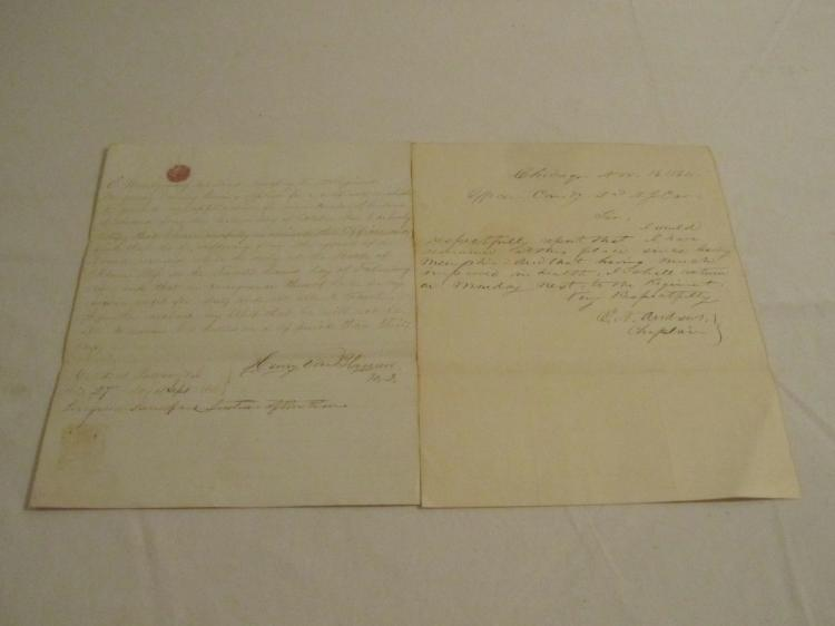 Group of 2 letters from the 2nd NJ Cavalry