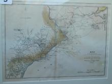 Framed map - of the country from Raritan River in East Jersey to Elk Head in Maryland