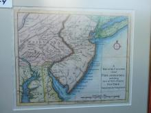 Framed map of the country round Philadelphia including part of New Jersey, New York, Staten Island and Long Island