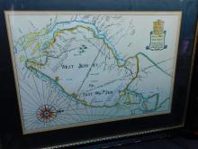 Hand drawn map of East and West New Jersey being a copy taken from an original for Raymond R Trambadore, 1965