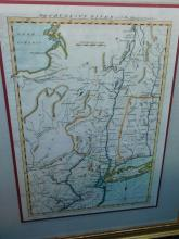 Framed map of Hudson's river with the adjacent country printed in Gentleman's Magazine, 1778