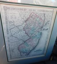 Matted Johnson's New Jersey map by Johnsons and Ward, 1863