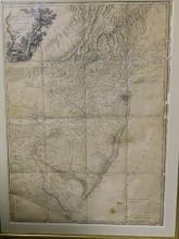 Large framed map of the province of New Jersey divided into east and west commonly called the Jerseys. 2nd edition with considerable improvements