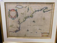 Framed map Nova Anglia Novum Belgivm at Virginia