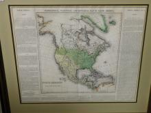 Geographical Statistical and Historical Map of North America