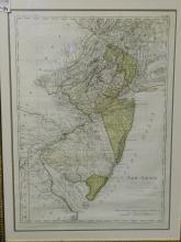 Framed map of New Jersey. Entworfen von D F Sotzmann Hamburg by Carl Ernst Bohn 1797