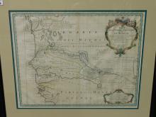 Carte Del'Afrique Francoise ou Du Senegal 18 April. 1726