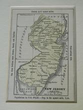 Matted map 1855 hand colored of New Jersey, Boynton