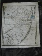 1795 map of New Jersey by Joseph Scott