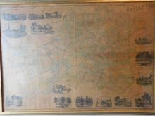 Framed map, farm map of Hillsboro, Somerset County, NJ