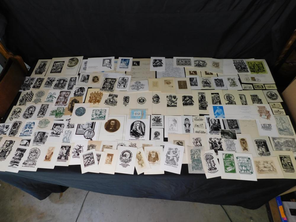 Full Album of 100+ Ex Libris Bookplates - Kekesi Laszlo