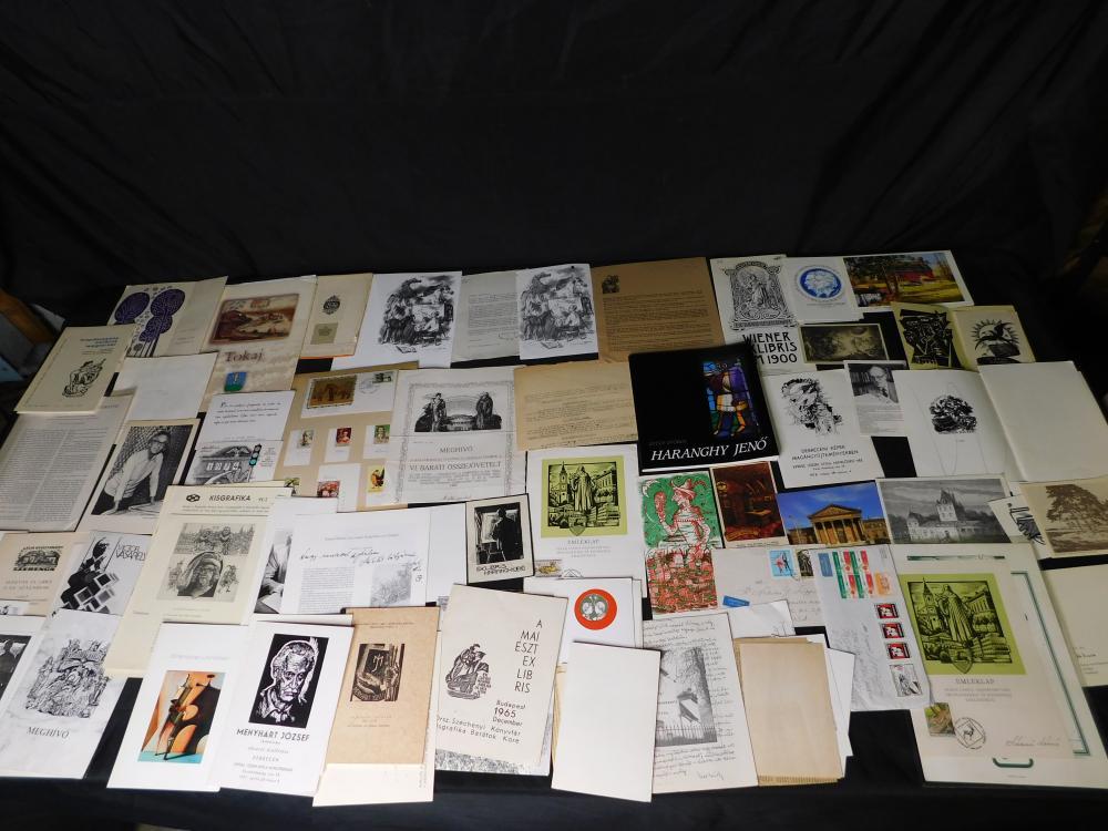 Huge Lot of Ex Libris Ephemera
