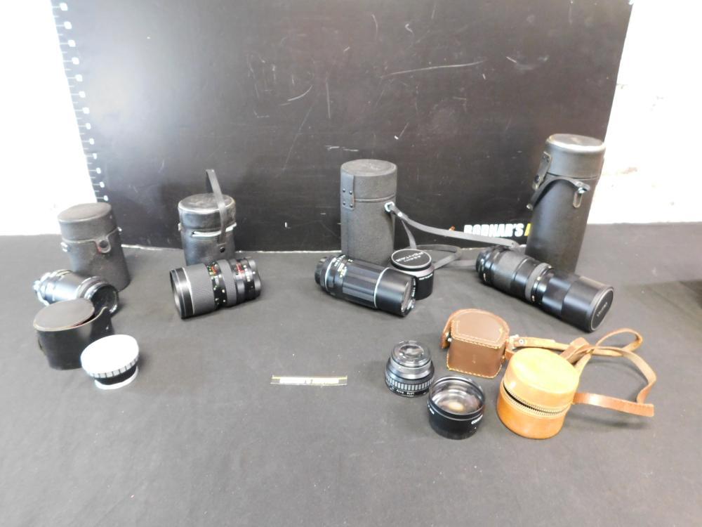 Group Lot of Vintage Lenses