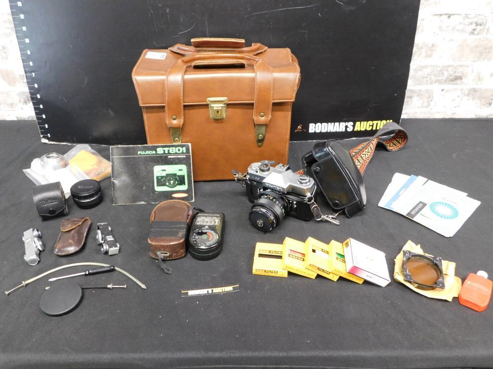 Camera Bag with Fujica ST801 35 mm Camera