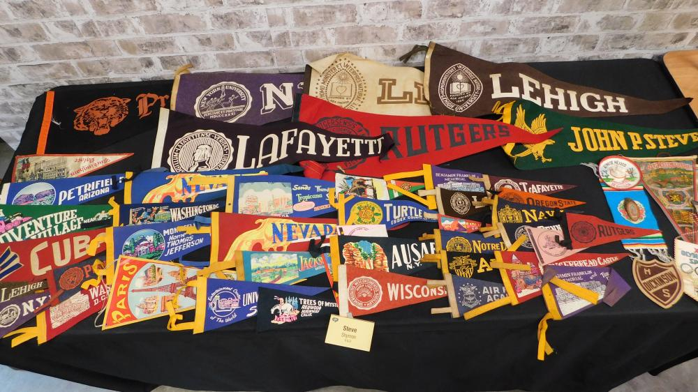 Lot of College and Souvenir Pennants