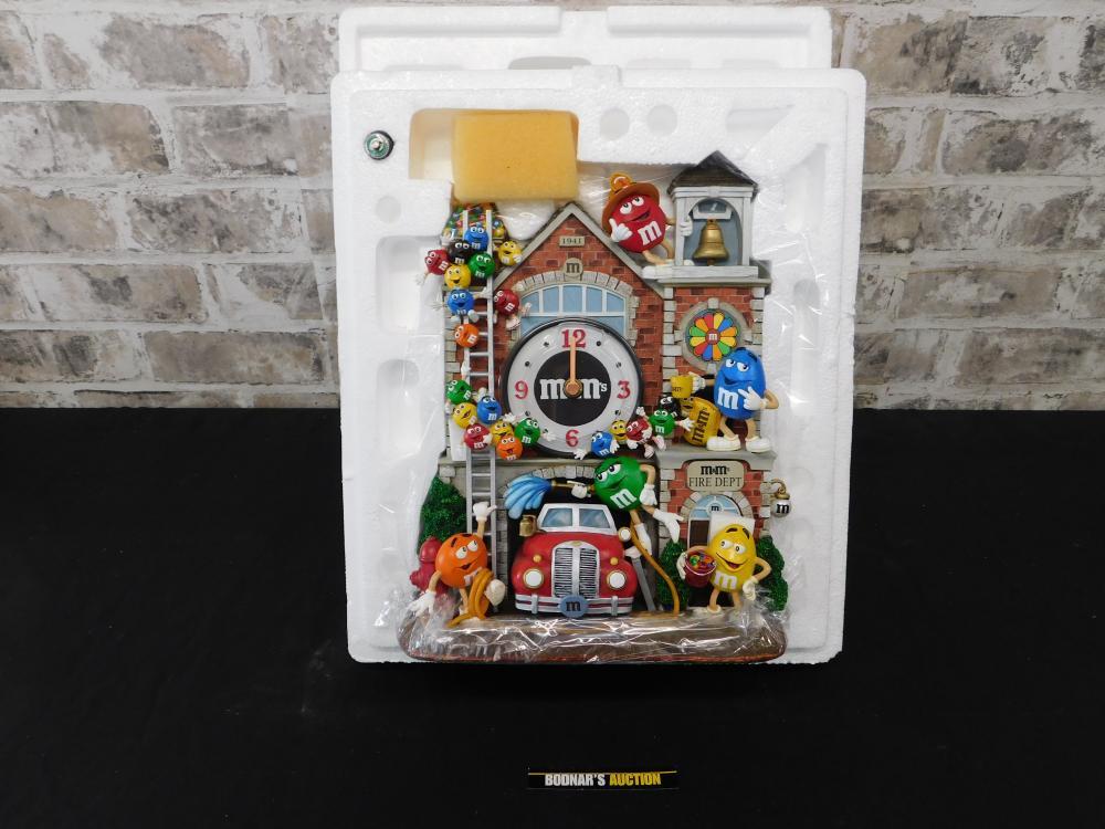 M&M's Fire Department Figural Clock