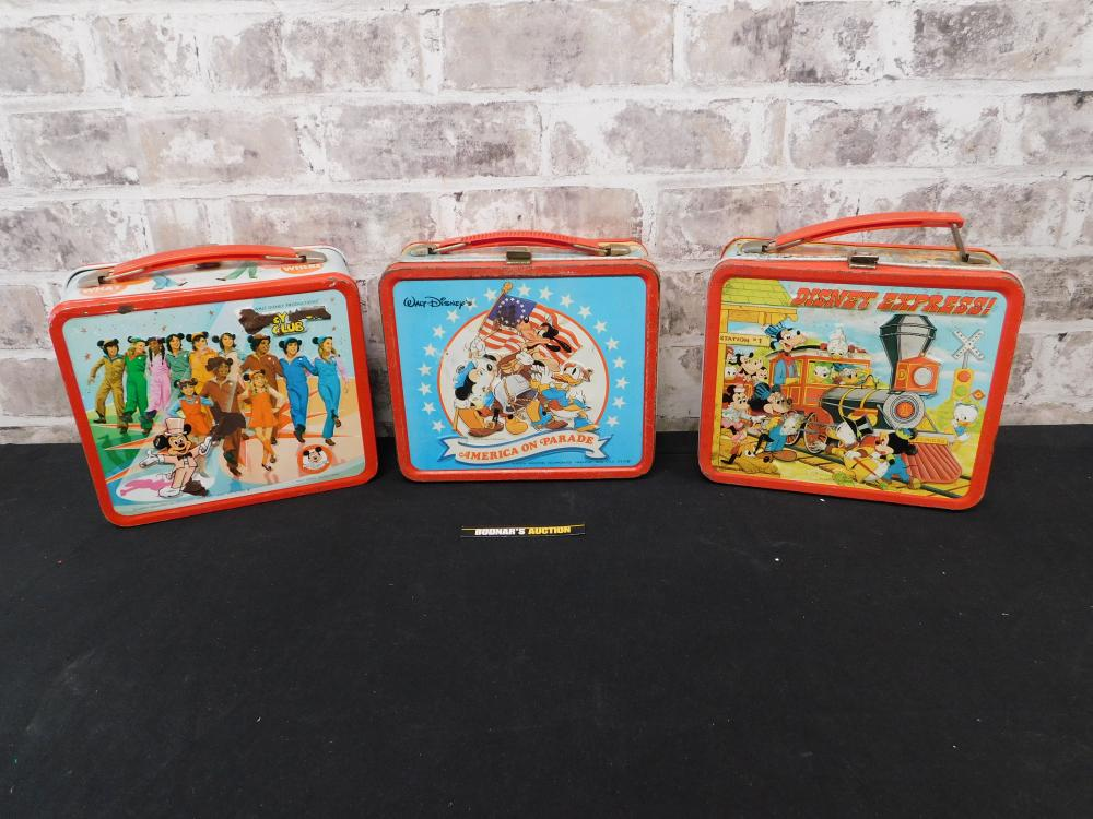 Lot of 3 Vintage Tin Lunchboxes