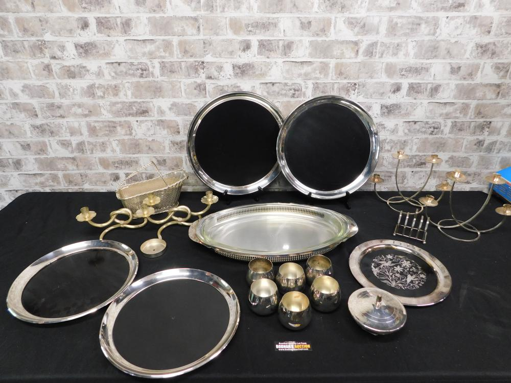 Large Lot of Silverplate Serving Pieces and Tableware
