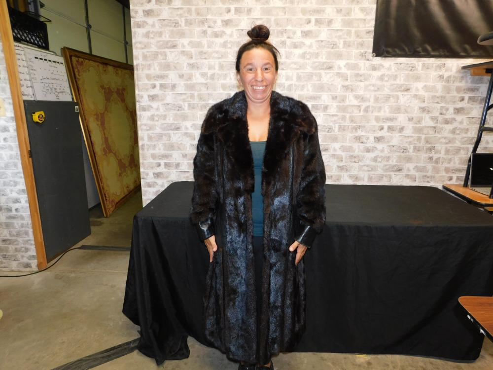 Leather and Mink Vintage Full Length Coat
