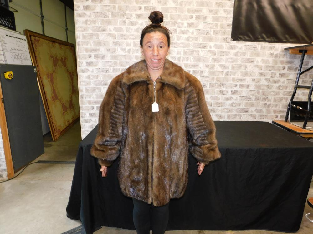 Fur Coat with Zipper Front - Saks 5th Ave