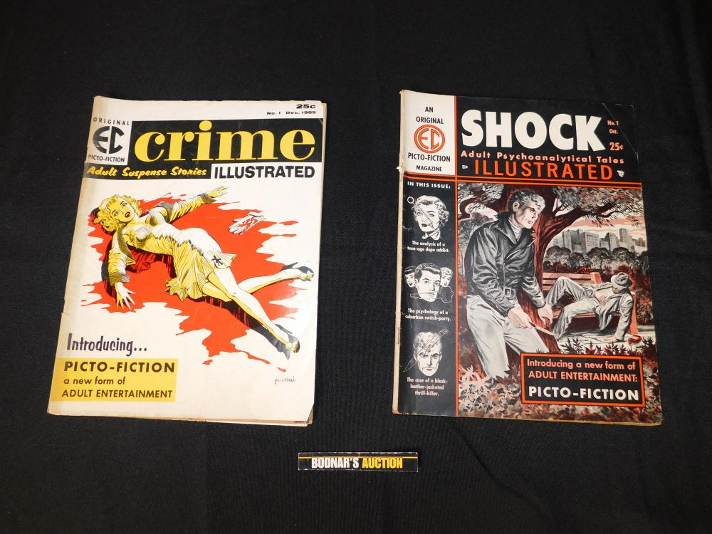 Lot of 2 EC Illustrated Picto-Fiction Magazines