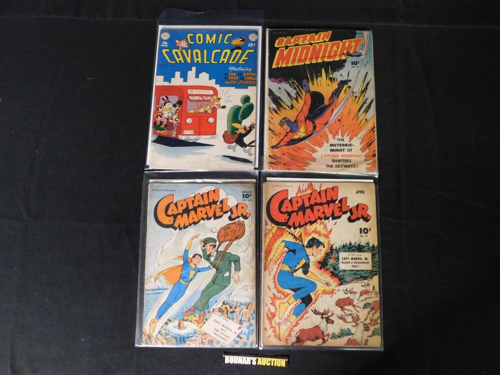 Lot of 4 Golden Age Comic Books including Captain Marvel Jr.