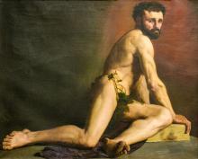 Léon Jean Petua: Man nude, 1879