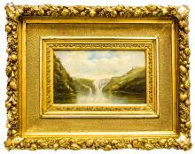 Károly Telepy: Waterfall, 1894