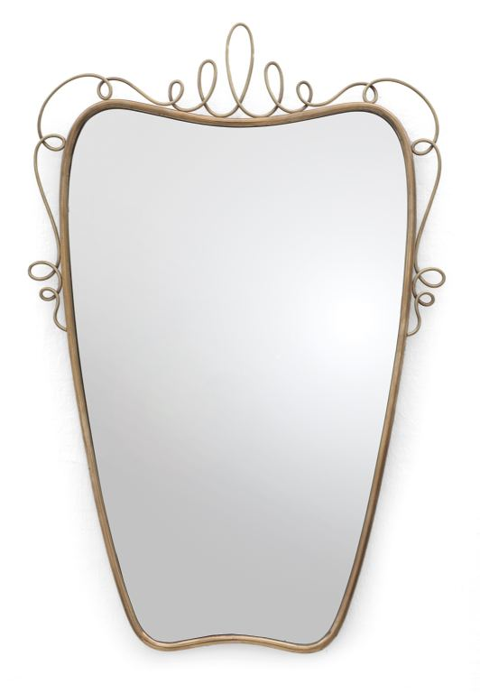Uno specchio da parete anni 39 50 ottone for Lots specchio