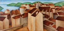 UBALDO OPPI (1889-1946) <br>Paese con porto