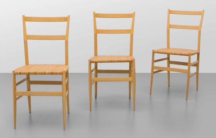 Gio ponti tre sedie superleggera per for Sedie gio ponti