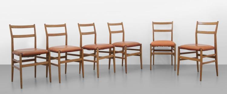 Gio ponti sei sedie leggera per cassina for Sedie gio ponti
