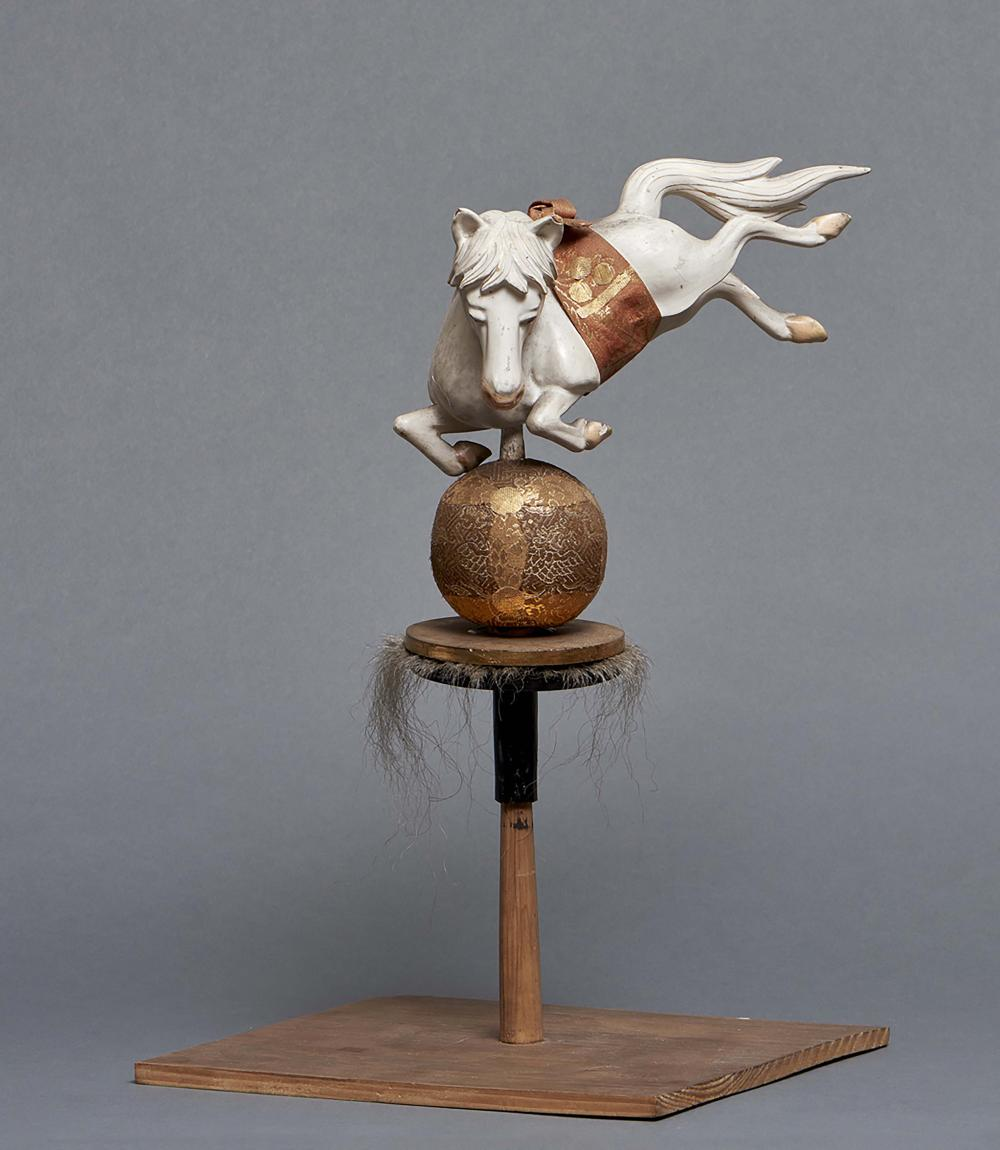 Nicely carved wooden festival lamp final (matsuri chôchin) in the shape of