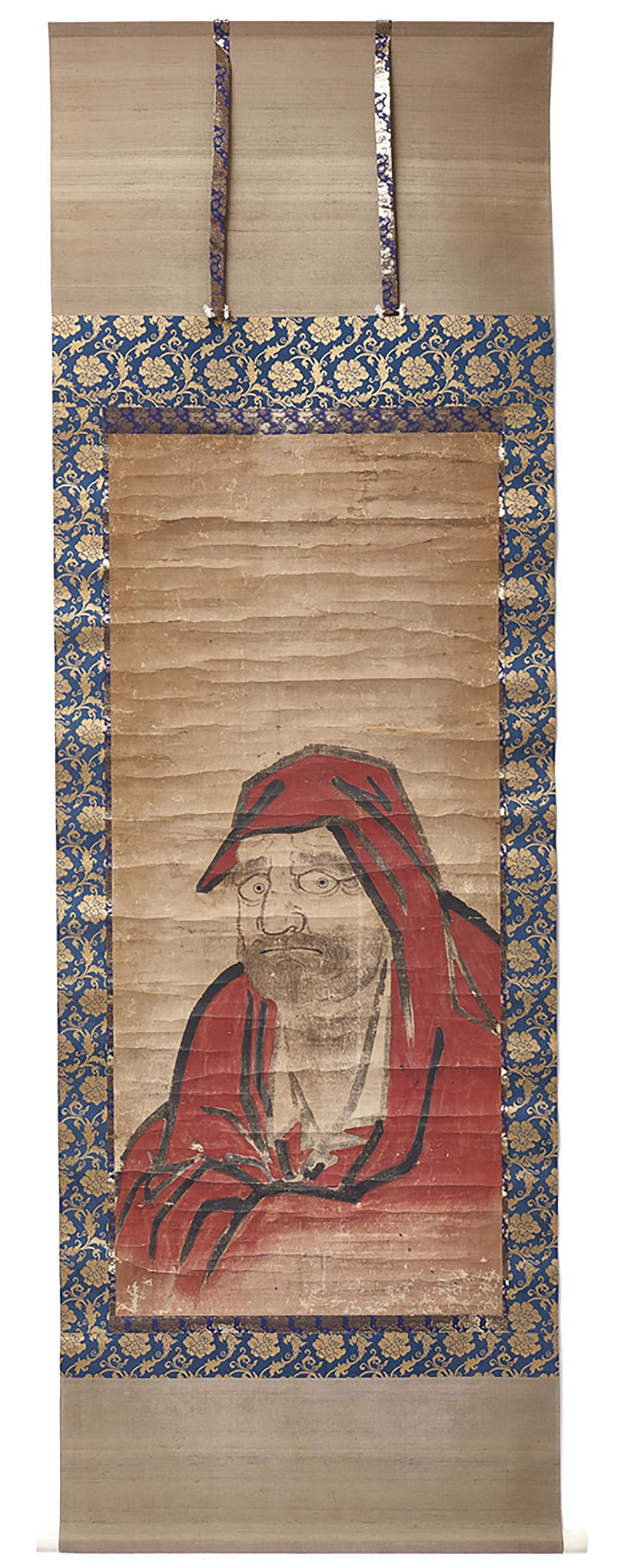 Hanging scroll (kakejiku) with a remounted somewhat wrinkled anonymous pain
