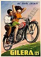 Poster motorcycling - GILERA 125, Luigi Boccasile, Click for value