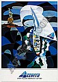 Poster sport - AZZURRA, Ugo Nespolo, Click for value