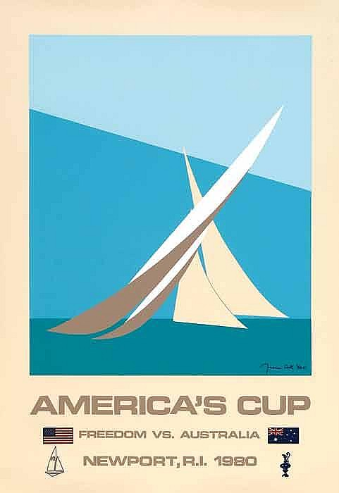 Poster sport - AMERICA'S CUP 1980