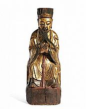 A FIGURE OF HIGH-LEVEL OFFICIAL China, Qing dynasty, 19th century