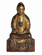 A FIGURE OF BUDDHA SEATED ON A THRONE China, Qing dynasty, 19th century
