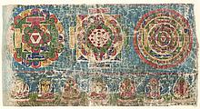 A PAINTING WITH MANDALA AND DIVINITY India, 19th century