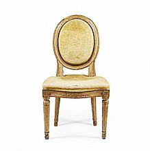 A CARVED AND GILT WOOD CHAIR Piedmont, late 18th Century
